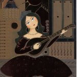 30-minute Farsi Lessons: Persian lady playing Tar by Kamelia Shojaee