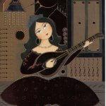 30-minute Farsi Lessons: Persian lady playing Tar by Kamelia Shojaee