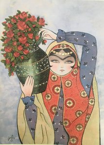 Painting by Kamelia Shojaee: Learn Persian