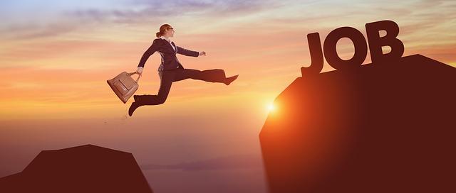 Career woman jumping to new heights of success: Persian / Farsi Jobs